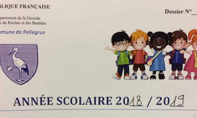 Fournitures scolaires pour la  rentrée à l'école primaire à Pellegrue